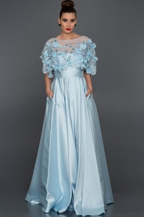 Long Blue Evening Dress S4376