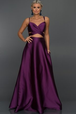 Long Purple Evening Dress ABU131