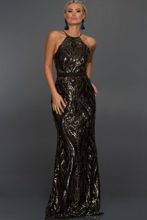Long Black Evening Dress AB9199