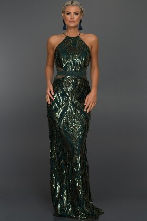 Long Emerald Green Mermaid Evening Dress ABU759