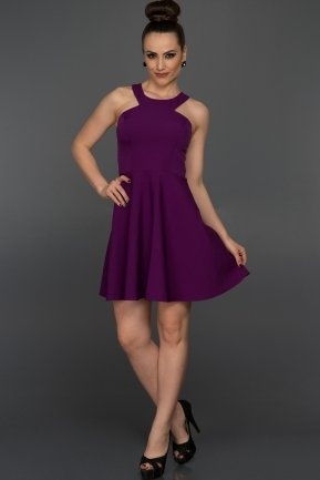 Short Purple Evening Dress NA5152
