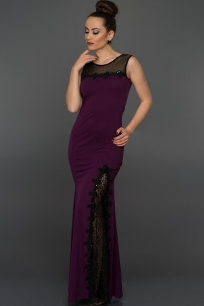Long Purple Evening Dress AR36799