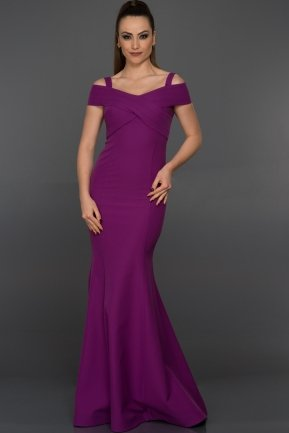 Long Purple Evening Dress C6143