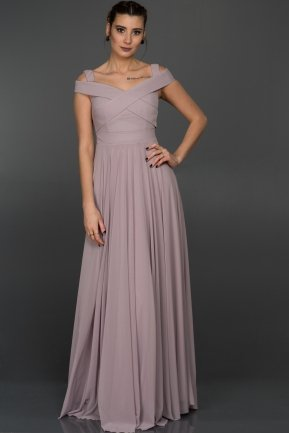 Long Light Lavender Evening Dress ABU008