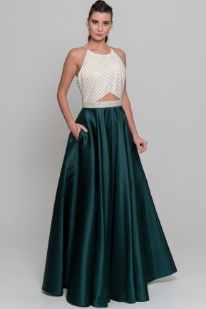 Long Emerald Green Evening Dress S4381