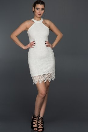 Short White Evening Dress ES3540