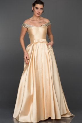 Long Salmon Evening Dress GG6921