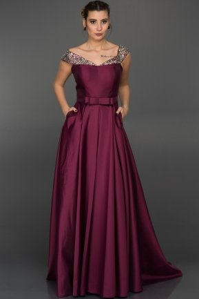 Long Plum Evening Dress GG6921