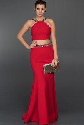 Long Red Evening Dress ABU015