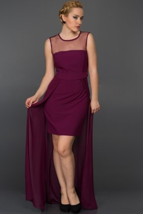 Long Violet Evening Dress AR36952
