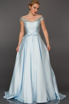 Long Light Blue Evening Dress GG6921
