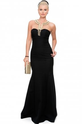 Long Black Evening Dress C7183