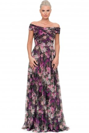 Long Purple Evening Dress ABU036
