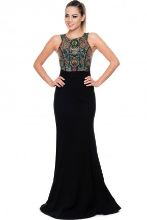 Long Black Evening Dress GG6874