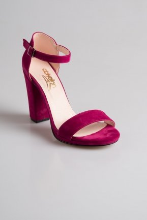 Fuchsia Suede Evening Shoes PK6308