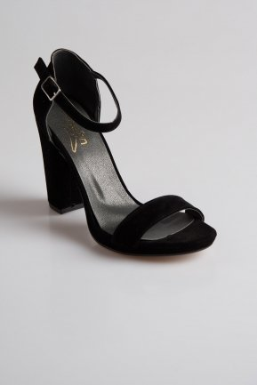 Black Suede Evening Shoes PK6308