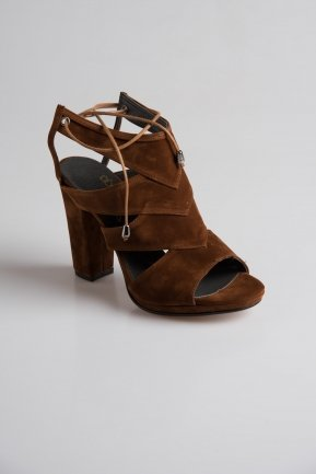 Light Brown Suede Evening Shoes PK6325