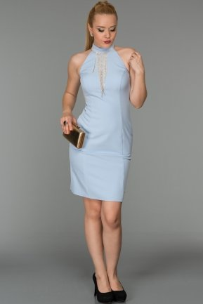 Short Blue Evening Dress DS287