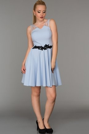 Short Blue Evening Dress DS294