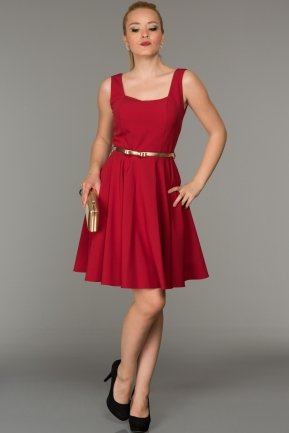 Short Red Evening Dress DS333
