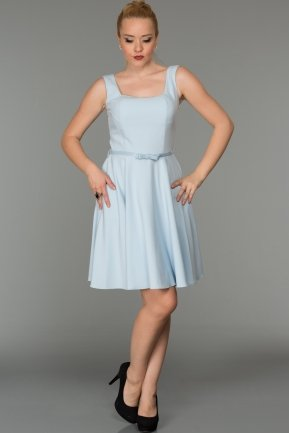 Short Blue Evening Dress DS333