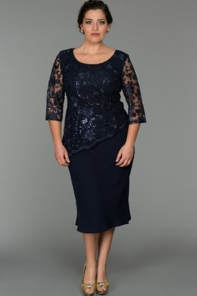 Navy Blue Oversized Evening Dress NZ3448