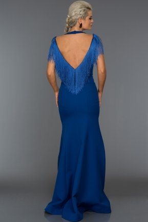 Long Sax Blue Evening Dress ABU017
