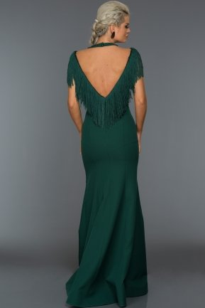 Long Emerald Green Evening Dress C7061