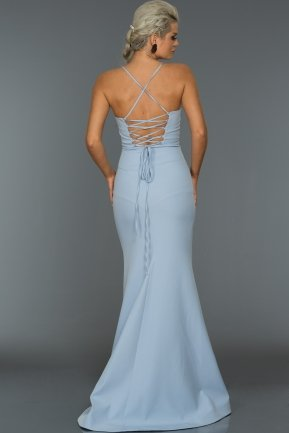 Long Ice Blue Evening Dress ABU043