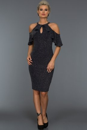 Short Navy Blue Evening Dress ABK124