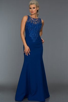 Long Sax Blue Evening Dress GG6856