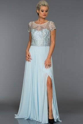 Long Blue Evening Dress S4442