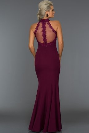 Long Plum Evening Dress T2828
