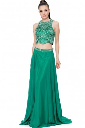 Long Emerald Green Prom Dress F2600