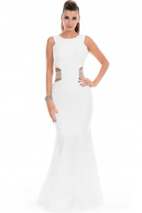 Long Ecru Evening Dress E3191