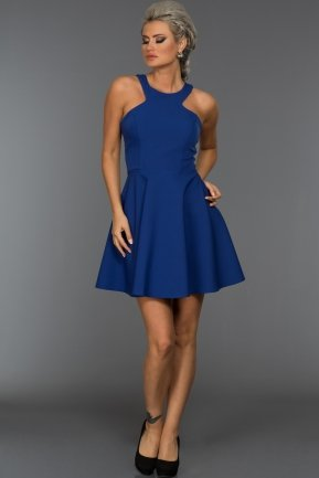 Short Sax Blue Evening Dress ABK004