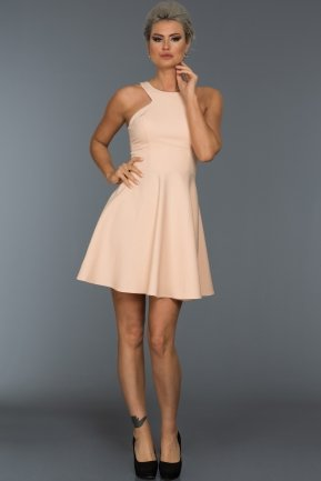 Short Salmon Evening Dress NA5152