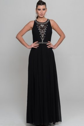 Long Black Evening Dress S4353