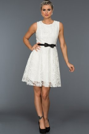Short White Evening Dress BL2013