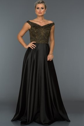 Long Black Evening Dress ABU027