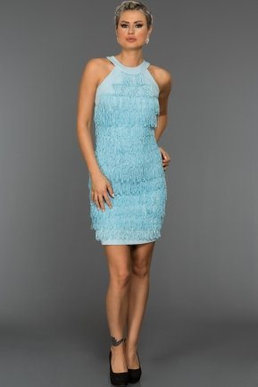 Short Blue Evening Dress DS332