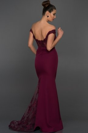 Long Plum Evening Dress AN2376