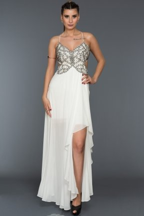 Long White Evening Dress ALY7647