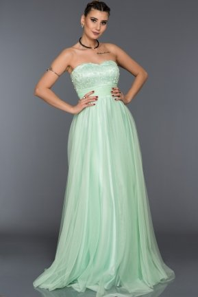 Long Mint Sweetheart Evening Dress ABU029