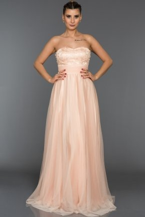 Long Powder Color Sweetheart Evening Dress C7135