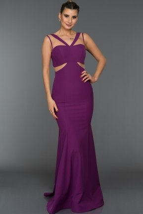 Long Purple Evening Dress C7239