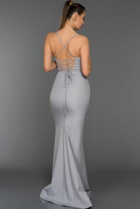 Long Grey Evening Dress ABU043