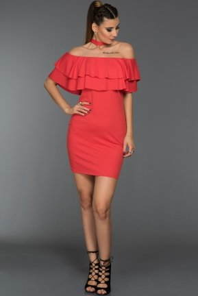 Short Coral Evening Dress D9188