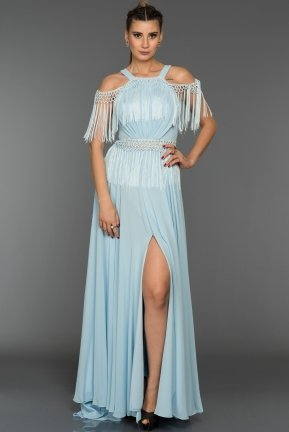 Long Light Blue Evening Dress ABU339