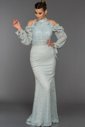 Long Turquoise Evening Dress F4304
